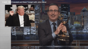 John Oliver offers Donald Trump his Emmy if he accepts election results