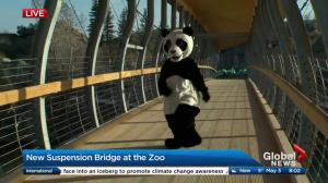 New suspension bridge at the Calgary Zoo