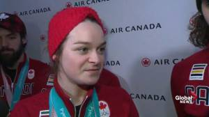 Kim Boutin says she's happy to be home