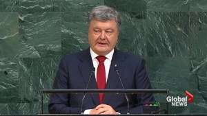 Ukraine's president calls Russia 'biggest threat' to global security, rejects 'hybrid' peace deal
