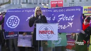 Flight attendants say shutdown threatening airline safety
