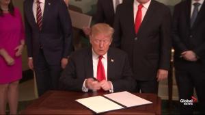 U.S. President Donald Trump signs declaration on Golan Heights