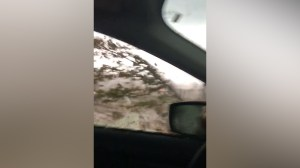 Woman left in shock after tornado appears to pass over car in Quebec