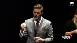 Richard Spencer speech derails into shouting match with angry protesters