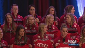 Reveal of Team Canada's women's hockey team an inspiration for young girls