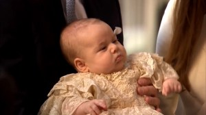 Prince Louis surrounded by family for christening as fans cheer nearby