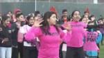 Delta flash mob celebrates Pink Shirt Day