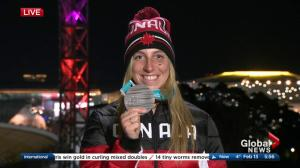 Olympic silver medalist Laurie Blouin talks about her big win