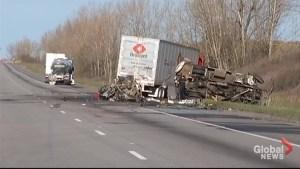 4 dead, 2 injured in Hwy. 401 crash near Kingston