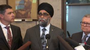 Sajjan says Vance will have discussions about Norman's next steps