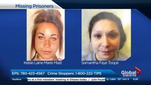 2 Women escape Edmonton Prison