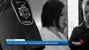 Terri-Lynne McClintic sent back to penitentiary