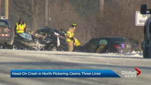 3 killed after head-on crash north of Pickering