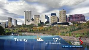 Edmonton early morning weather forecast: Friday, October 6, 2017