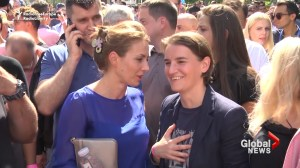 Serbia's first openly gay prime minister attends pride parade in Belgrade