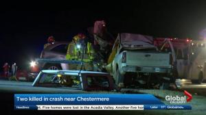 2 people killed in crash near Chestermere