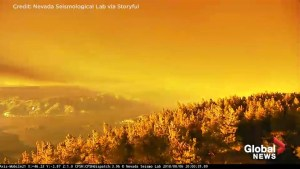 Mendocino fire causes beautiful 'Golden Sunset Effect' in California