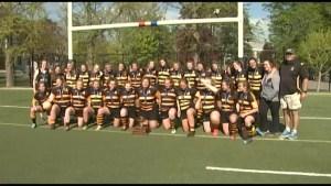 La Salle wins Kingston High School girls rugby title.