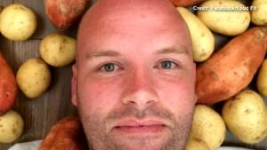 An Australian man is battling his food addiction by eating only potatoes in 2016