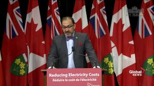 Ontario cancels plans for more green energy; has strong supply of electricity