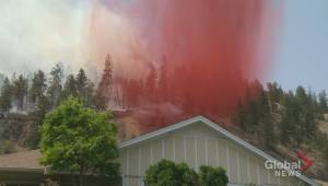 Sights and scenes of the Glenmore fire in Kelowna (01:25)