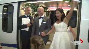Skytrain wedding venue for couple who met there