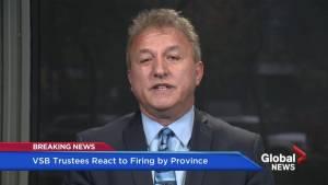 """Former VSB trustee calls firing """"outrageous"""""""
