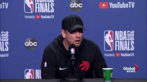 NBA Finals: Nick Nurse jokes Raptors need someone who can guard Durant 'from chest up'