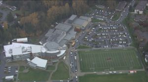 Aerials: Two students stabbed in incident at Abbotsford secondary