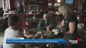 B.C. minimum wage hike