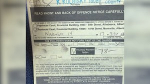 Speeding ticket rescinded for Alberta driver going 1 km/h over limit