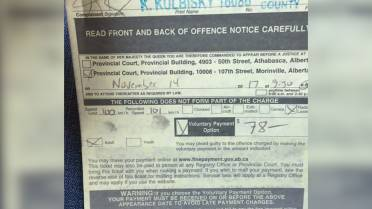 Alberta driver gets speeding ticket for going 1 km/h over