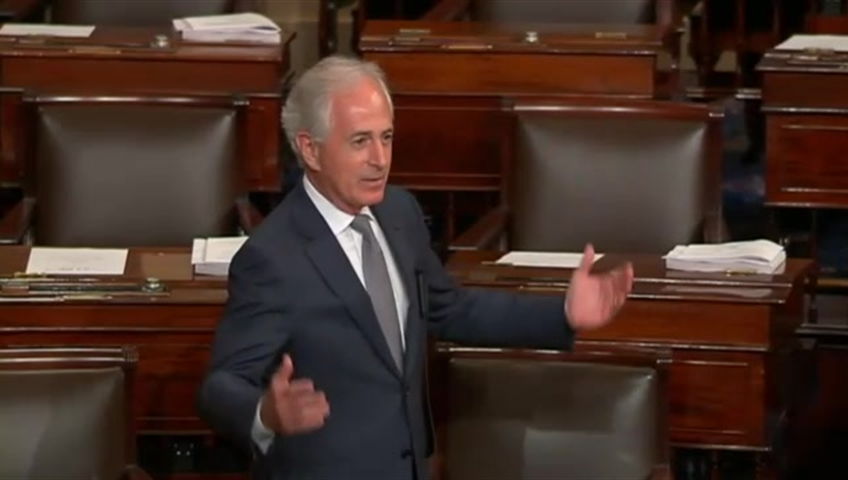 Corker lashes fellow Republicans for being afraid of Trump