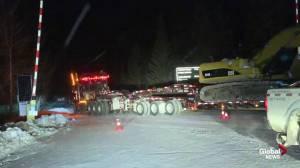 CP Rail train derailment near Banff