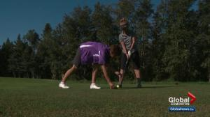 The job of a sight coach for blind golfers