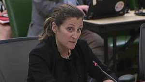Freeland vows 'equally clear and firm' repose to Trump auto tariffs