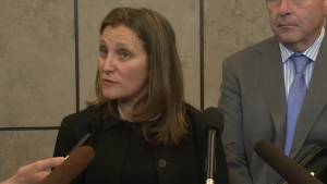 Freeland unaware of Canadian trash shipped to Malaysia, working with Philippines to resolve dispute