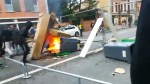 Flames flicker on streets in French city as France students continue to protest Macron reforms
