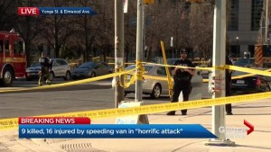 'All hell broke loose': Witnesses describe Toronto van attack