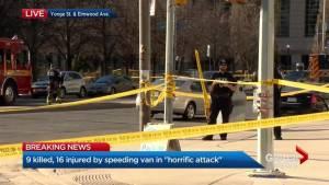 'All hell broke loose': Witnesses describe Toronto van attack