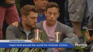 Hundreds gather around the world for Orlando victims
