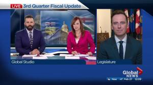 Alberta finance minister updates fiscal situation