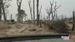 Time-lapse video captures drive through neighbourhood devastated by California wildfire