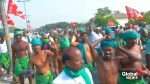 Tens of thousands of farmers in India stage protest march
