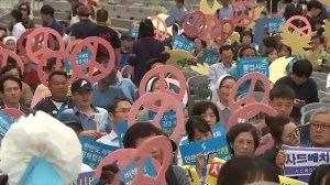 Vigil held in South Korea in hopes of successful U.S.-North Korea summit
