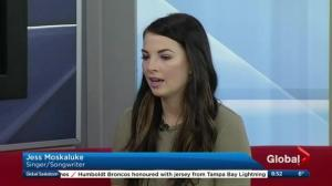 Jess Moskaluke taking part in Humboldt Broncos tribute concert