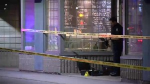 Innocent bystander shot during pot-shop robbery