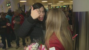 Kaitlyn Lawes Arrives Home From Olympics