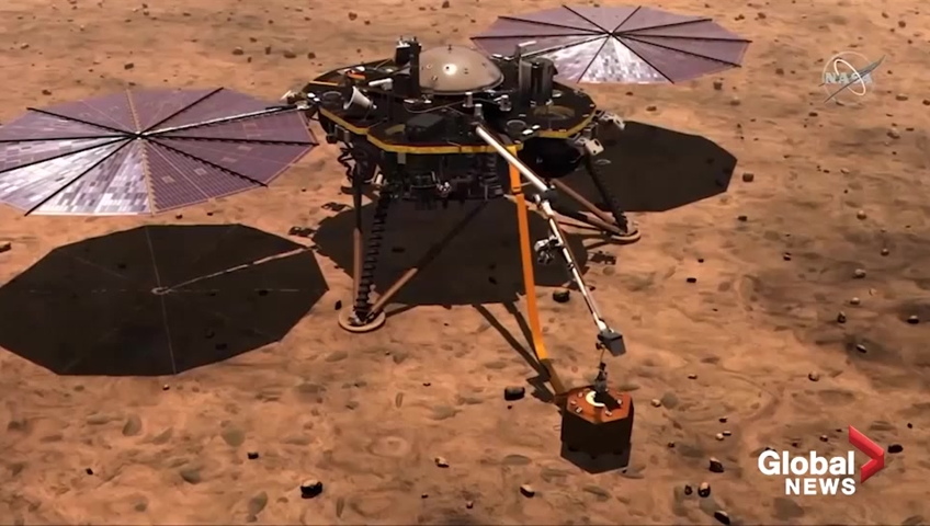 NASA's In Sight lander to study interior of Mars