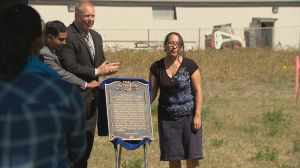Industrial school cemetery plaque highlights dark history of Saskatchewan